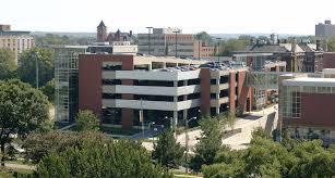 cleveland state university east parking garage northeast corner