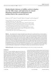 Russian Boreal Forest Disturbance Maps by Dendroclimatic Inference Of Wildfire Activity In Quebec Over The