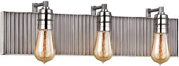 elk 15922 3 corrugated steel contemporary weathered zinc polished