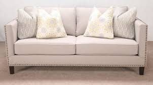 Gray Nailhead Sofa by Get Comfortable Seating Without Comprising Style With This Casual