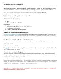Electrician Resume Template Free Resume Template Templates Free Download For Microsoft Word Job S