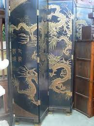 Chinese Room Dividers by Cf 103 Antique Huge Chinese Lacquer Dragon Room Divider Folding