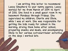 nanny reference letter reference letter for nanny job character