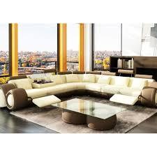 canap beige canapé d angle design marron et beige en cuir rela achat vente