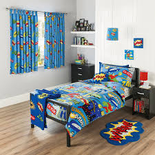 Childrens Bedroom Bedding Sets Kids Bedroom Using Superhero Bedding Set With Curtain And Mat