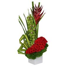contemporary collection of flower arrangements