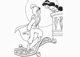 aladdin jasmine kiss coloring pages free coloring pages