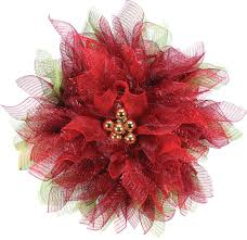 geomesh poinsettia wreath crafts direct
