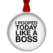 I Pooped Today Meme - like a boss meme ornaments keepsake ornaments zazzle