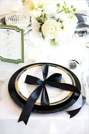 black and white table settings white and gold table settings red and black table settings red black