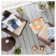 outdoor rug pattern stripe blue threshold target
