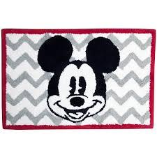 Disney Bath Rug Chevron Mickey Mouse Bath Rug