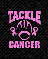 custom awareness ribbons custom tackle cancer or tackle for a cure football breast cancer