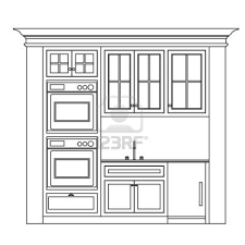 Kitchen Cabinet Drawer Design Kitchen Cabinet Design Drawing Kitchen Elevation Line Drawing