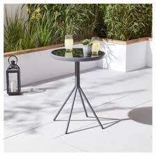 Tesco Bistro Table Buy Tesco Grey Metal Bistro Table From Our Metal Garden Furniture
