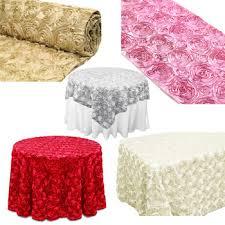 pink rosette table runner satin rosette tablecloth fabric table runner overlay buy satin
