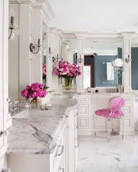 Pink Bathroom Vanity A Marble And Pink Bathroom With Sweet Accents Like Fresh Blooms