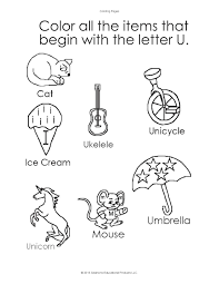 this activity sheet helps children learn how to recognize the