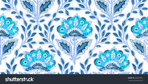 Elements Home Decor by Seamless Pattern Fantasy Flowers Natural Wallpaper Stock Vector