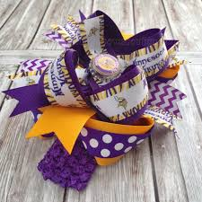 boutique hair bows buy minnesota vikings boutique hair bow or baby headband online at
