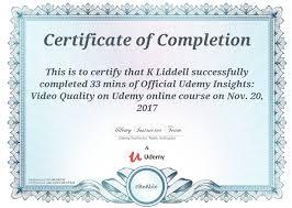 certificate of completion u2013 udemy