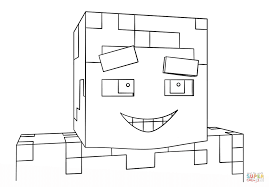 minecraft smiling steve coloring page free printable coloring pages