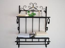 Wrought Iron Bathroom Shelves Iron Style Bathroom Shelf Towel Rails Towelbar