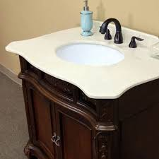 Bathroom Vanity Montreal Montreal Single 35 Inch Traditional Bathroom Vanity With Mirror