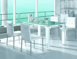 Modern Dining Room Sets Miami Modern High Gloss Dining Table Set Furniture In White Features