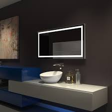 Bathroom Mirrors Montreal Slim Harmony Cool White 40 W X 24 H X 1 D Around The Pad