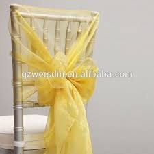 gold chair sashes guangzhou wholesale gold fancy flower organza chair sash for