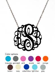 acrylic monogram necklace monogrammed initial necklace the average consumer
