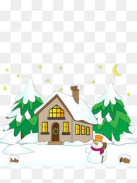 white christmas snowy day white christmas tree snow png image