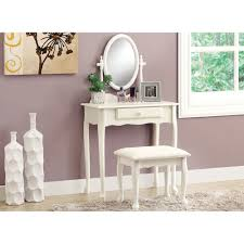 Small Vanity Sets For Bedroom Amazon Com Monarch 2 Piece Vanity Set Antique White Kitchen