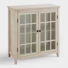 Two Door Cabinet Antique White Door Storage Cabinet World Market