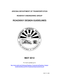 roadway design guidelines