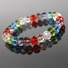 simple beads bracelet images Fashion paradise only for you multicolored acrylic crystal beads JPG
