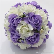cheap roses purple and ivory wedding flowers bouquet 2018 cheap roses bridal