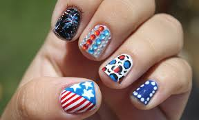 colorful 4th of july nails and designs
