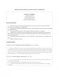 Electronic Resume Example by Examples Of A Functional Resume Functional Resume Format 2017
