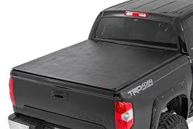 soft tri fold bed cover for 2014 2017 toyota tundra rough rc soft tri fold vinyl bed tonneau cover