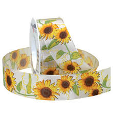 sunflower ribbon sunflowers wired the ribbon curl decorative ribbon