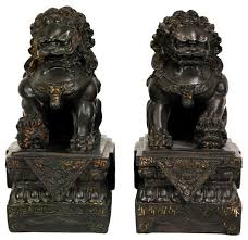 foo dogs for sale 9 foo dog statues 2 set traditional decorative objects