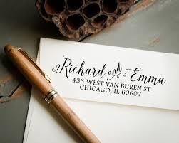 wedding invitations return address self inking st return address st custom st