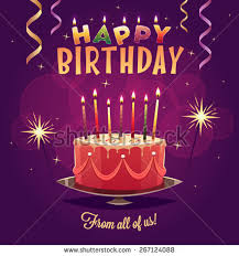 happy birthday greeting card vector illustration stock vector