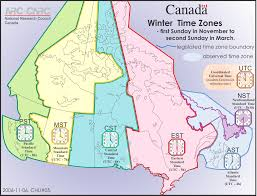 Ottawa Canada Map by Time Zones U0026 Daylight Saving Time National Research Council Canada