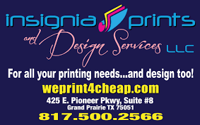 insignia prints and design services llc 425 e pioneer pkwy ste 8