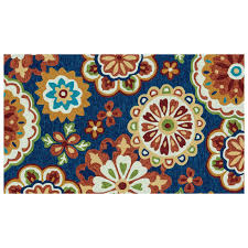 Outdoor Rug 3x5 by E138 Blue Medallions Rug 3x5 Ft At Home At Home