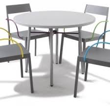 Small Outdoor Bistro Table Pub Style Exterior Dining Room Decor With Metal Coated Outdoor