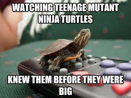 Funny Teenage Memes - watching teenage mutant ninja turtles knew them before they were